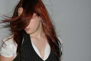 Red with Black Tips 9 by Klaymortia