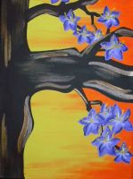 Blossom Tree Triptych Piece 1 by ToniTiger415