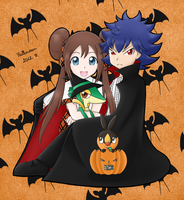 Pokemon BW2 - Halloween - SequelShipping by Eneko-nya