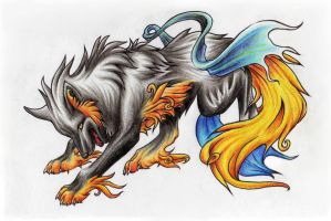 Okami Wolf coloured by Evil-Within-Me