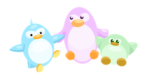 Penguin Trio by mizz-izzy