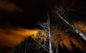 Stary Sky and Fire Clouds, Umea by nostro-fr