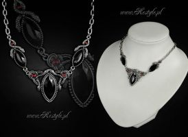 Snakes Of Avalon Necklace by Euflonica