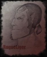 Hellboy Sketch -no reference- by Rogue-Lgr