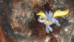 Derpy is now in space as well by DragonKittyPi