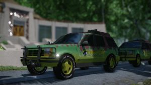 Jurassic Park Ford Explorer by metonymic