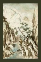 Chinese Painting - Mountains by jeimicampos