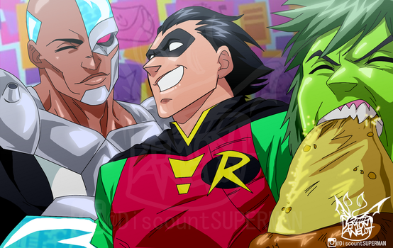 TEEN TITANS GO - The boys are back in town by DEMONAnelot