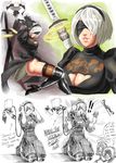 My hype train for Automata has no breaks! by Pltnm06Ghost