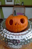 Jack Skellington as a pumpkin by WitchBehindTheBush