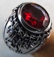 Dwarf Ring - Ruby by ce-e-vel