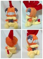 Chibi Scrafty plush by LRK-Creations