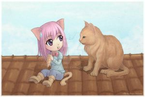Cats on the roof by Serio555