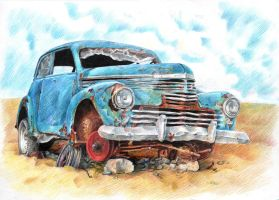 rusted car by c-razycheese