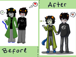 Before-After: KatNep by ForeverMuffin