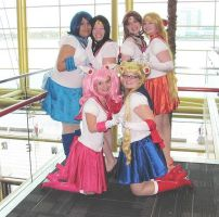 Sailor Scouts Unite!! by smithers456