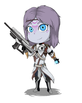 Destiny Chibi OC by DaniiScream