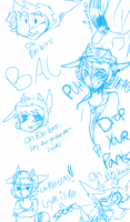 Some Bal sketches: PUH-LEASE by El3ctro-Mess