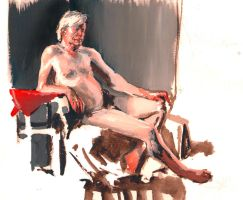 Lifedrawing at Blur3 by bearmantooth