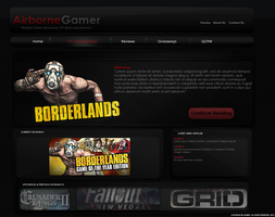 Airborne Gamer Website Design by Luigib07