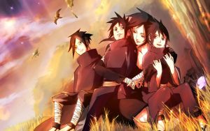 Uchiha family by Rarity-Princess