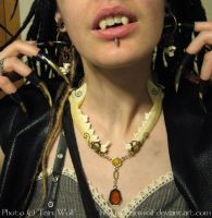 Halloween 2010, Jaw Necklace by tajniwolf