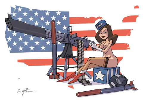 american PinUp by scoppetta