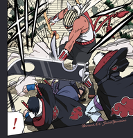 Sasuke, Suigetsu VS Killer Bee by JointOperation