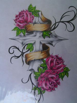 Cross Tattoos Drawing
