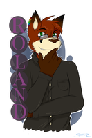 Roland Badge (Commission) by Stripes-the-Raccoon