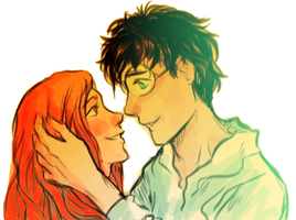 Ginny and Harry by pebbled