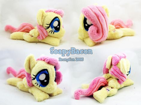Mini 5.5in Fluttershy ~ BronyCon Stock 2016 by TheHarley