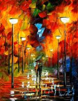 The soul of the park by L.Afremov by Leonidafremov