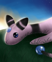 Pokemon: Shiny Ampharos by PrinceofSpirits
