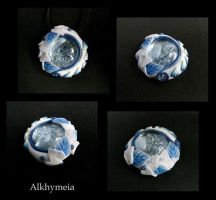 Dew Drop in Blue and White M1 by Alkhymeia