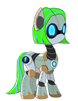 MLP - Blue Lightning the Pony-Droid by Moheart7