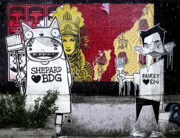 Shepard Fairey Loves Bandung by stereoflow
