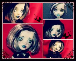 Frankie Stein Repaint (Monster High Custom Doll) by AliceWHatter