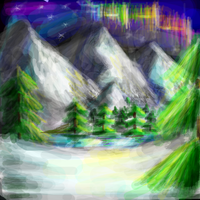 Snowy Landscape Xat doodle by supersonicartdrawer