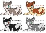Husky puppies adoptables by Skaylyt