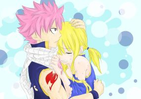 Natsu and Lucy by EmilysArmy