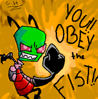 OBEY THE FIST by The-Irken-Elite