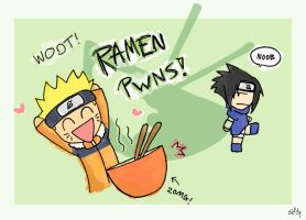 Naruto and his beloved Ramen by Sifty
