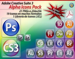 Adobe CS3 Alpha Icons Pack by Tiger-Fenix