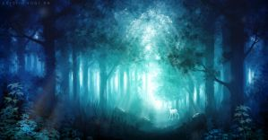 Blue Forrest by CarolinVogt