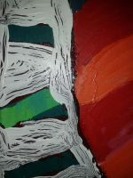 green orang red abstract5 by hermitsrme