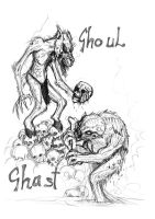 Ghast and Ghoul by Clone-Artist