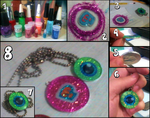 Jacksepticeye And Pewdiepie Glitter Pendants by Waffle-the-kitten