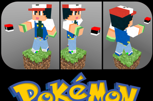 Ash ketchum in Minecraft by GhosT-Player