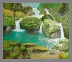 Nature with little waterfalls by leila1605